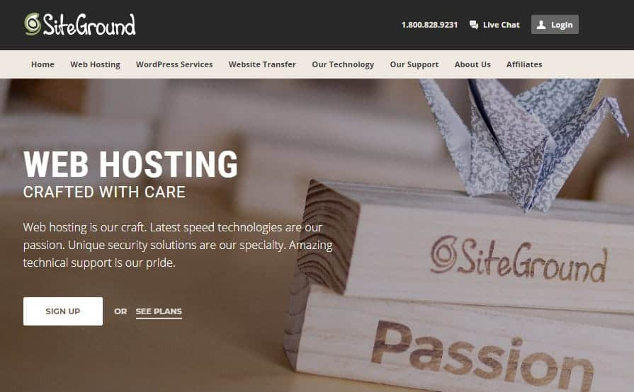 siteground start a blog