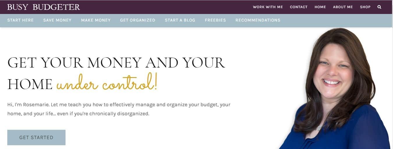 busy budgeter blog header