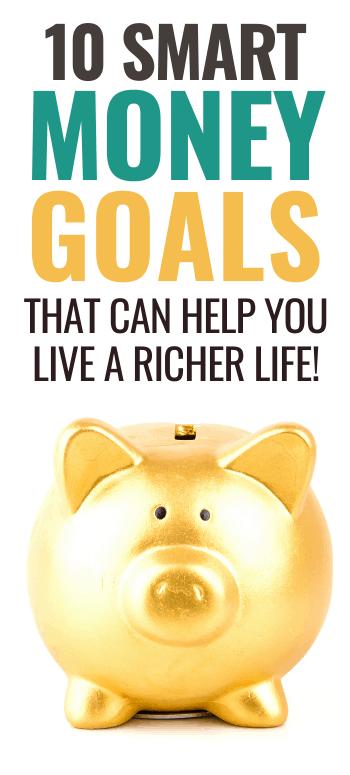 money goals piggy bank