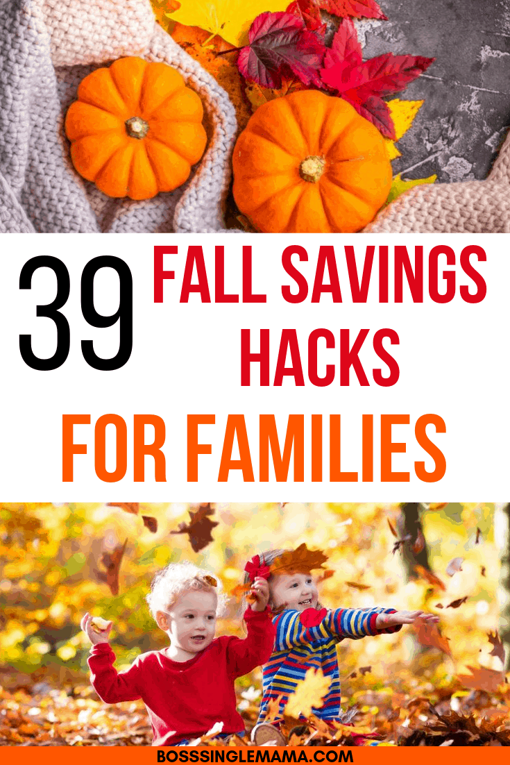fall savings hacks for families