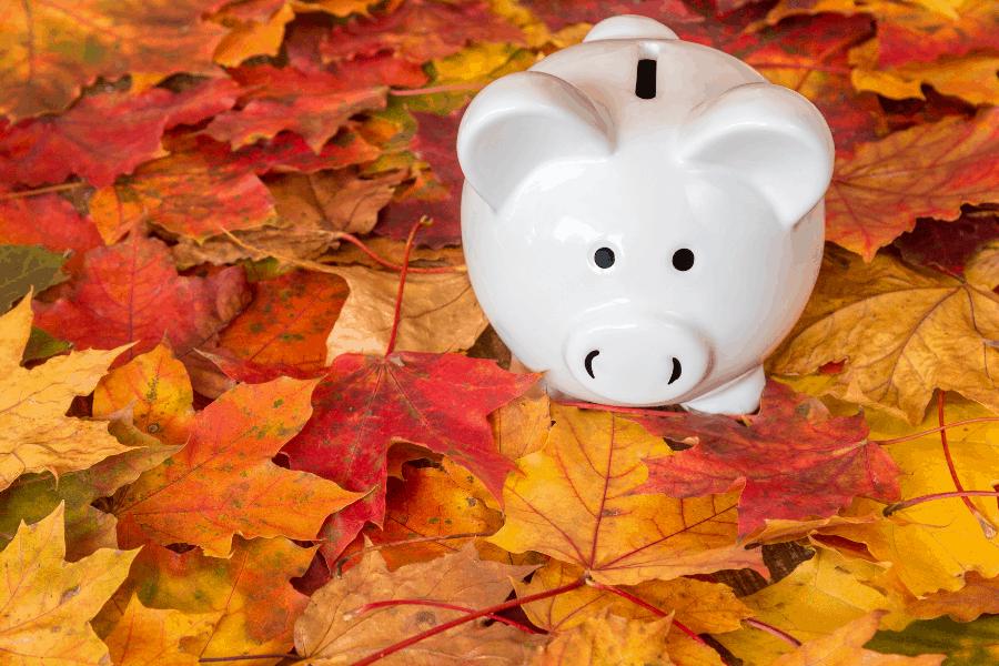 autumn piggy bank