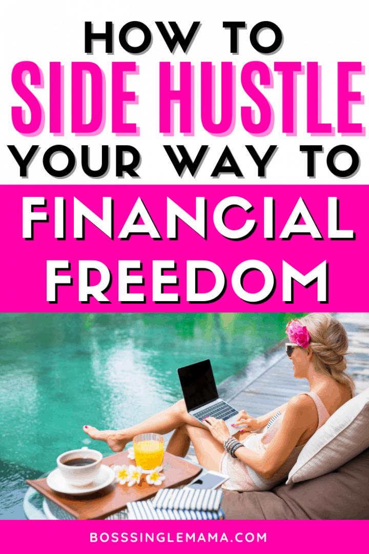 woman side hustling