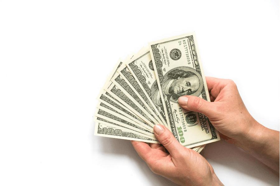 hand holding cash