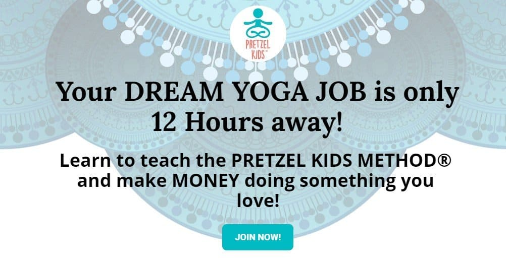 become a pretzel kids yoga teacher