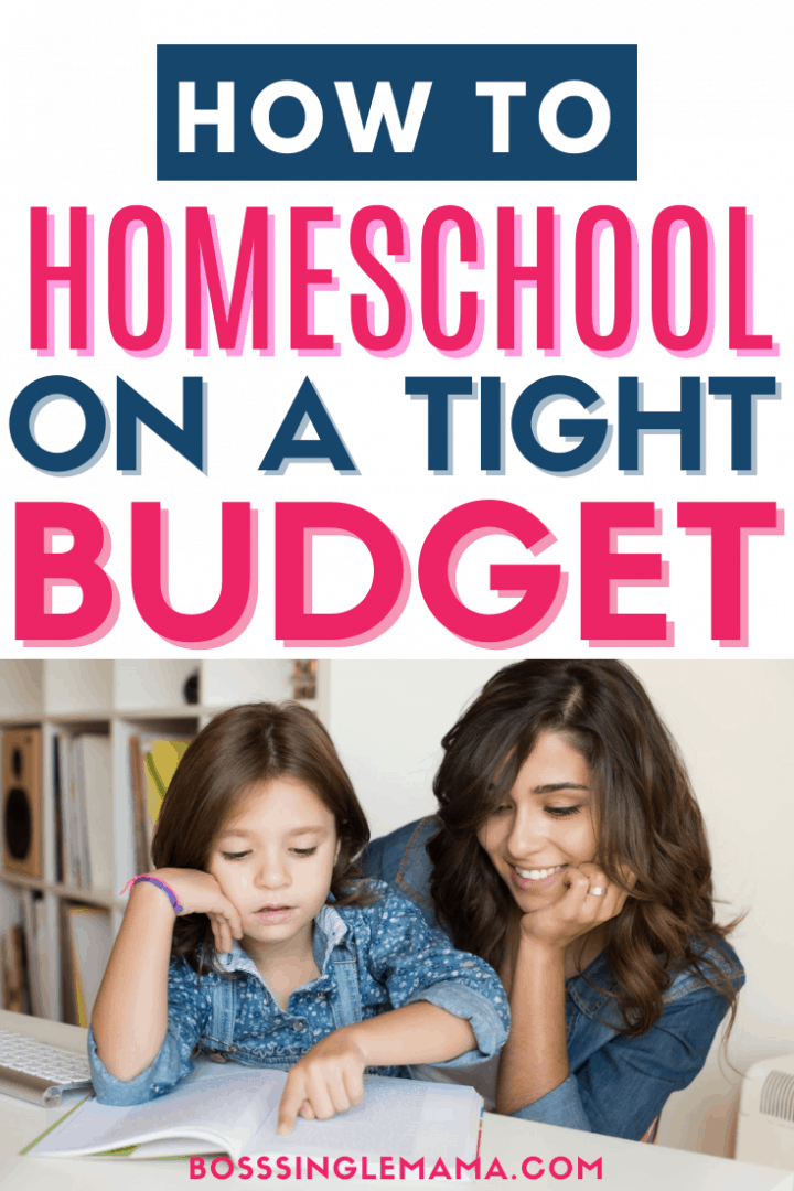 mom and daughter homeschooling