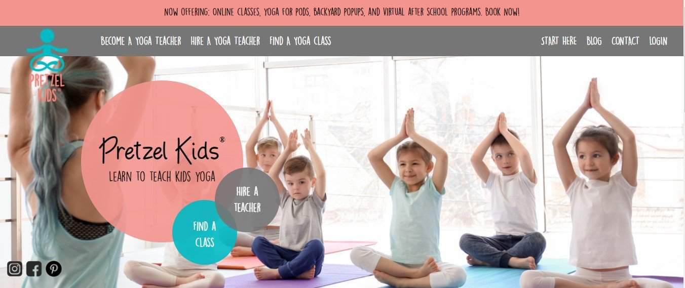 woman teaching kids yoga