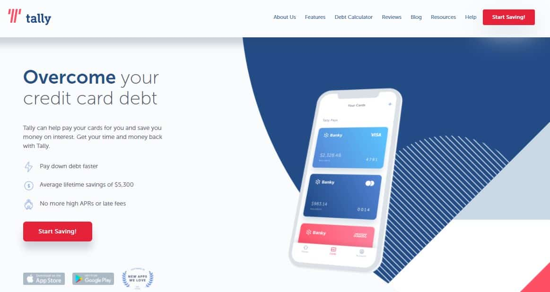 tally app pay off credit card debt